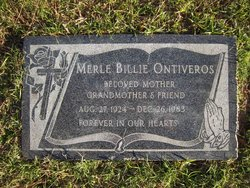 Merle Evelyn Billie <i>Rhodes</i> Ontiveros