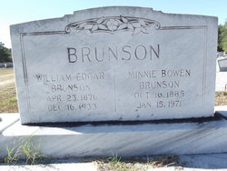 Minnie Rebecca <i>Bowen</i> Brunson