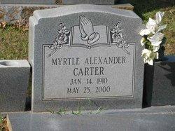 Myrtle <i>Alexander</i> Carter
