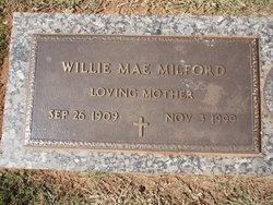 Willie Mae <i>Parker</i> Milford