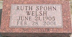 Ruth Fuller <i>Duesler</i> Spohn Welsh