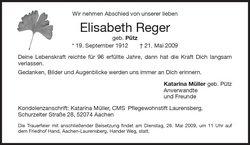 Elisabeth <i>P�tz</i> Reger