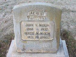 John V McKIM