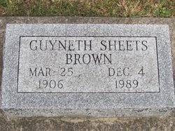 Guyneth <i>Sheets</i> Brown