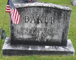 Mary Ann <i>Schultz</i> Baker