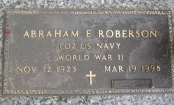 Abraham E Roberson