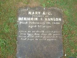 Mary Adeline C <i>Jones</i> Hanson