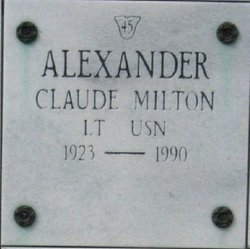 Lieut Claude Milton Alexander