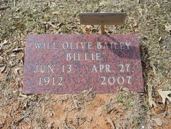 Will Olive Billie <i>Bynum</i> Bailey