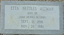 Etta Lenora <i>Nettles</i> Altman