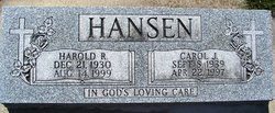Carol Jean <i>Toelle</i> Hansen