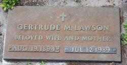 Gertrude M Trudie <i>Newton</i> Lawson