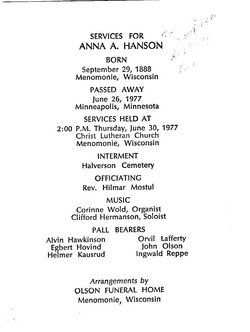 Anna Alfrida <i>Hawkinson</i> Hanson