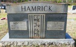 Martha Eliza Minnie <i>McCluney</i> Hamrick