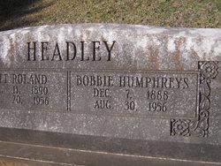 Bobbie Earl <i>Humphreys</i> Headley