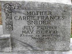 Carrie Frances <i>Duncan</i> Snider