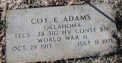 Coy E Adams