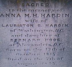 Anna Maria <i>Hooe</i> Hardin