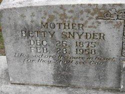 Martha Elizabeth Betty <i>Reid</i> Snider