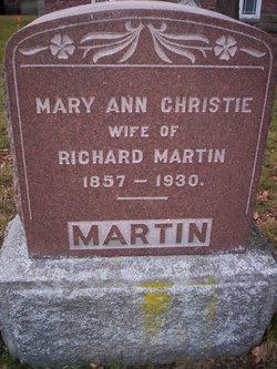 Mary Ann <i>Christie</i> Martin