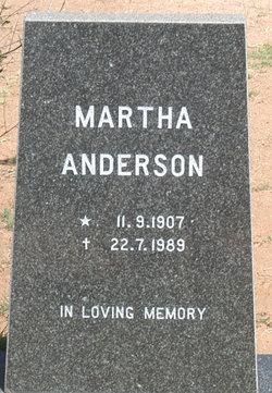 Martha <i>Sussmann</i> Anderson