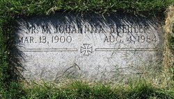 Sr Mary Johannita Buehler