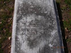 Marian Elizabeth McWhorter