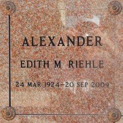 Edith M. Riehle Edie <i>Unger</i> Alexander