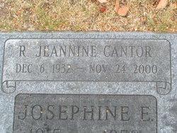 R Jeannine <i>McDonald</i> Cantor