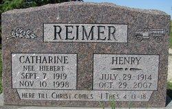 Catharine <i>Hiebert</i> Reimer