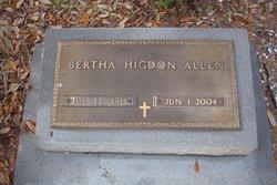 Bertha <i>Higdon</i> Allen