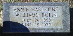 Annie Haseltine Ann <i>Williams</i> Bolin
