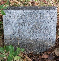 Sarah Frances <i>Braddy</i> Guyton