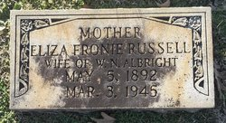 Eliza Fronie <i>Russell</i> Albright