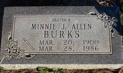 Minnie J <i>Thompson</i> Burks