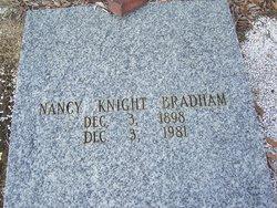 Nancy Nannie <i>Knight</i> Akins Bradham