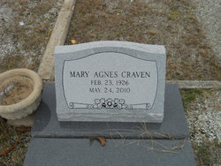 Mary Agnes <i>Snider</i> Craven