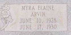 Myra Elaine Arvin