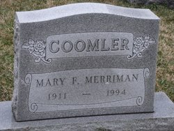 Mary F. <i>Merriman</i> Coomler