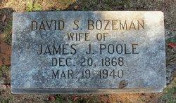 David S <i>Bozeman</i> Poole