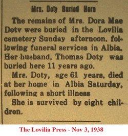 Dora Mae <i>( )</i> Doty