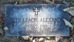 Betty <i>Leach</i> Alexander