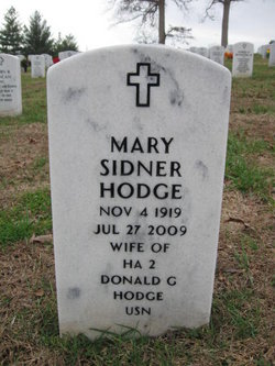 Mary Lucille <i>Sidner</i> Hodge
