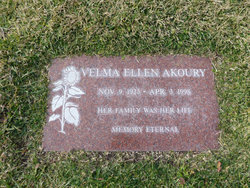 Velma Ellen <i>George</i> Akoury