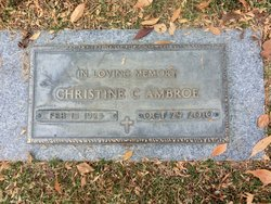 Christine C <i>Patterson</i> Ambroe