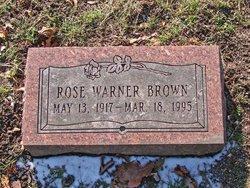 Rose <i>Warner</i> Brown
