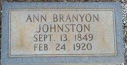 Margaret Ann Annie <i>Branyon</i> Johnston