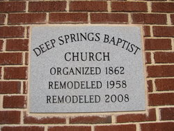 Deep Springs Baptist Church Cemetery