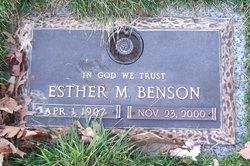 Esther M. <i>Elliott</i> Benson