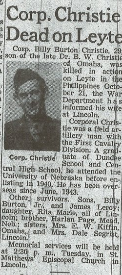 Corp Billy Burton Christie